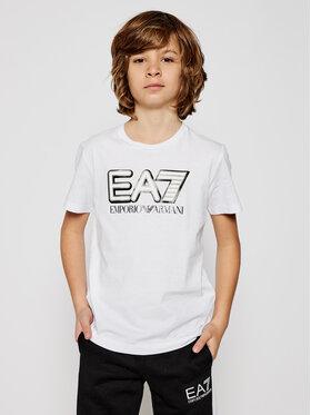 EA7 Emporio Armani EA7 Emporio Armani T-shirt 6HBT53 BJ7CZ 1100 Blanc Regular Fit