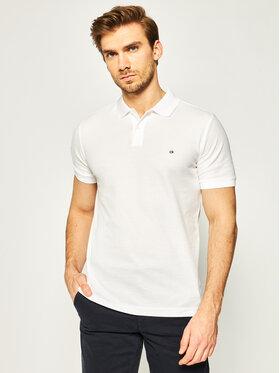 Calvin Klein Calvin Klein Pólóing Refined Pique Chest Logo K10K02964 Fehér Slim Fit