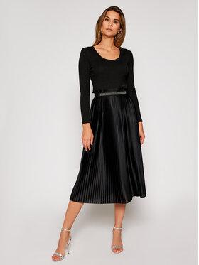 Liu Jo Liu Jo Koktejlové šaty WF0297 J6032 Černá Regular Fit