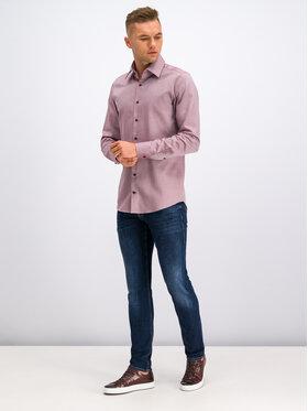 JOOP! Joop! Košile 30017078 Bordó Slim Fit