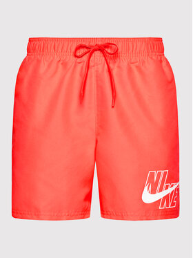 Nike Nike Pantaloncini da bagno Logo Lap 5 NESSA566 Rosso Standard Fit