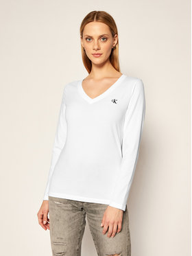 Calvin Klein Jeans Calvin Klein Jeans Блуза Essentials J20J214936 Бял Regular Fit
