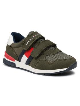 Tommy Hilfiger Tommy Hilfiger Sneakersy Low Cut Velcro Sneaker T1B4-30481-0732 S Zielony