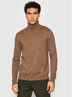 Selected Homme Selected Homme Pull à col roulé Berg 16074684 Marron Regular Fit