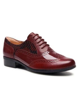 Clarks Clarks Oxford cipők Hamble Oak 261514664 Bordó