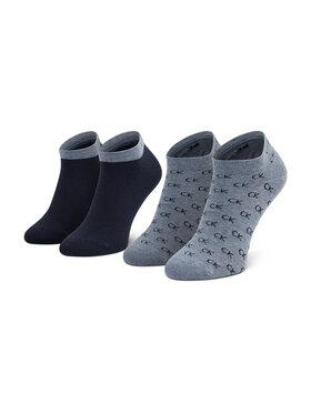 Calvin Klein Calvin Klein Vyriškų trumpų kojinių komplektas (2 poros) 701218715 Pilka