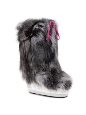 Moon Boot Moon Boot Kožušinový návlek na topánky Cover Fox 140COV02001 Sivá