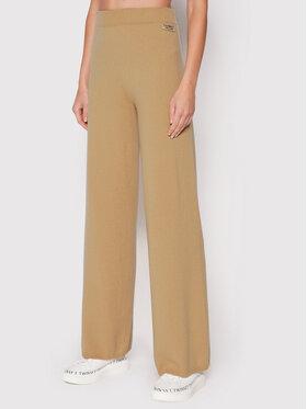 TWINSET TWINSET Kalhoty z materiálu 212TP3144 Béžová Regular Fit