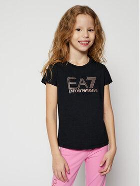 EA7 Emporio Armani EA7 Emporio Armani T-shirt 6HFT54 FJ5GZ 1200 Crna Regular Fit