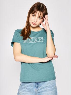 Roxy Roxy T-Shirt ERJZT04808 Zelená Regular Fit