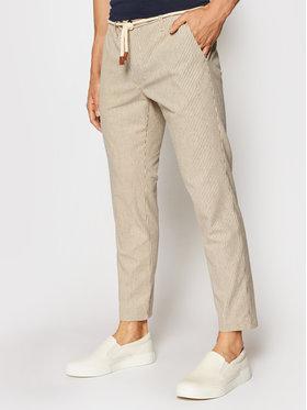 Imperial Imperial Spodnie materiałowe PM11BPU Beżowy Slim Fit