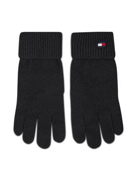 Tommy Hilfiger Tommy Hilfiger Moteriškos Pirštinės Essential Knit Gloves AW0AW09027 Juoda