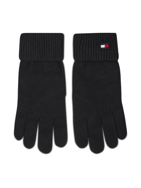 Tommy Hilfiger Tommy Hilfiger Rękawiczki Damskie Essential Knit Gloves AW0AW09027 Czarny
