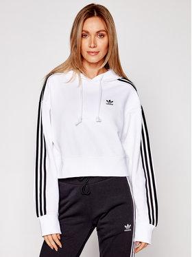 adidas adidas Felpa Short Hoodie GN2891 Bianco Standard Fit