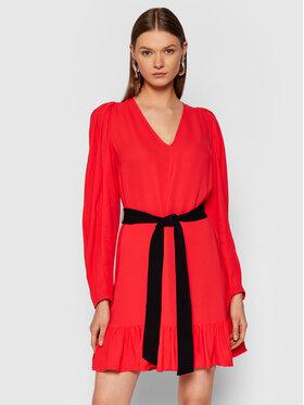 TWINSET TWINSET Koktel haljina 212TT2293 Crvena Regular Fit