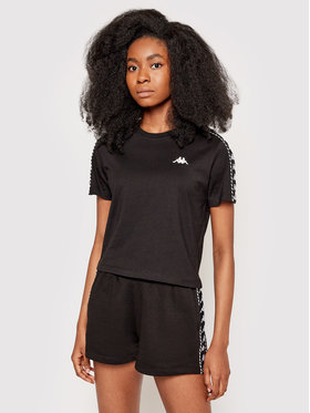 Kappa Kappa T-Shirt Inula 309090 Czarny Regular Fit