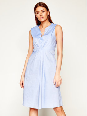 Manila Grace Manila Grace Sukienka codzienna A503CU Niebieski Regular Fit