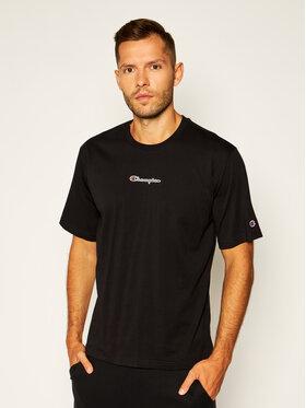 Champion Champion T-Shirt Script Logo Print 214203 Černá Custom Fit