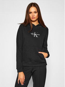 Calvin Klein Jeans Calvin Klein Jeans Pulóver Monogram J20J214803 Fekete Regular Fit