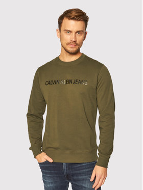 Calvin Klein Jeans Calvin Klein Jeans Pulóver J30J307758 Zöld Regular Fit