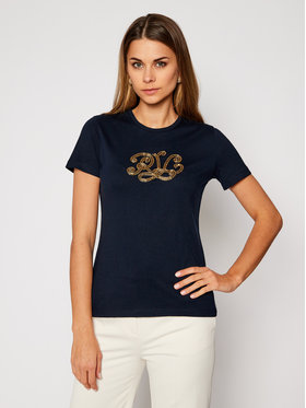 Lauren Ralph Lauren Lauren Ralph Lauren T-Shirt Logo 200809660001 Granatowy Relaxed Fit