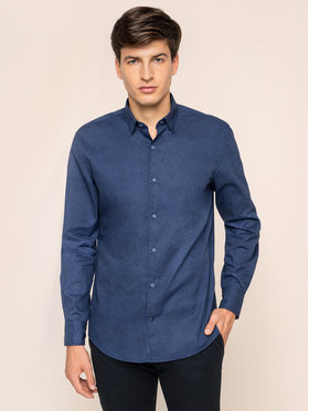 Pierre Cardin Pierre Cardin Marškiniai 5874/000/26954 Tamsiai mėlyna Modern Fit