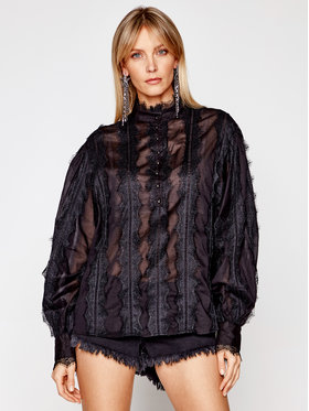 One Teaspoon One Teaspoon Chemisier Eternal Lace 23479B Noir Oversize