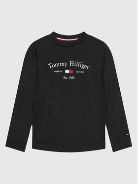 Tommy Hilfiger Tommy Hilfiger Bluza Artwork KB0KB06347 D Czarny Regular Fit