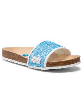 Pepe Jeans Pepe Jeans Šľapky Bio Glitters PGS90101 Modrá
