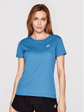 Asics Asics Technisches T-Shirt Silver Ss 2012A029 Blau Regular Fit
