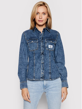 Calvin Klein Jeans Calvin Klein Jeans camicia di jeans J20J216145 Blu Slim Fit