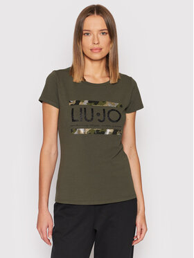 Liu Jo Sport Liu Jo Sport T-Shirt TF1219 J5972 Zelená Regular Fit