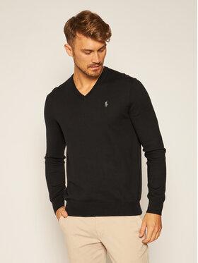 Polo Ralph Lauren Polo Ralph Lauren Пуловер Ls Sf Vn Pp 710670789003 Черен Regular Fit