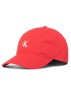 Calvin Klein Jeans Calvin Klein Jeans Kšiltovka Monogram Baseball Cap IU0IU00150 Červená
