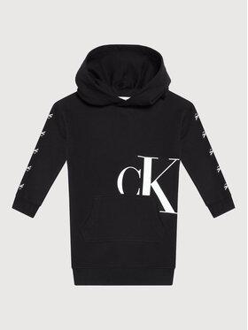 Calvin Klein Jeans Calvin Klein Jeans Každodenní šaty Mini Monogram IG0IG01029 Černá Regular Fit
