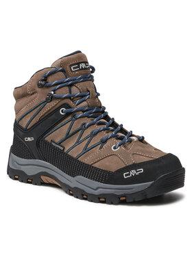 CMP CMP Παπούτσια πεζοπορίας Kids Rigel Mid Trekking Shoe Wp 3Q12944J Καφέ