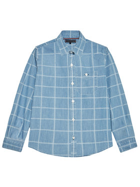 Tommy Hilfiger Tommy Hilfiger camicia di jeans Flag Check KB0KB06501 M Blu Regular Fit