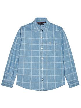 Tommy Hilfiger Tommy Hilfiger Τζιν πουκάμισο Flag Check KB0KB06501 M Μπλε Regular Fit