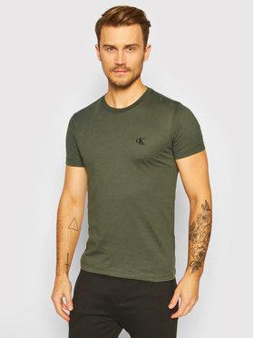 Calvin Klein Jeans Calvin Klein Jeans T-Shirt J30J314544 Zielony Slim Fit