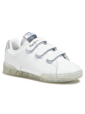 Pepe Jeans Pepe Jeans Sneakersy Lambert Girl Glitter PGS30487 Biały