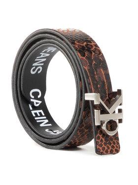 Calvin Klein Jeans Calvin Klein Jeans Pasek Damski Ckj Rev Skinny Mono 24mm K60K606879 Brązowy