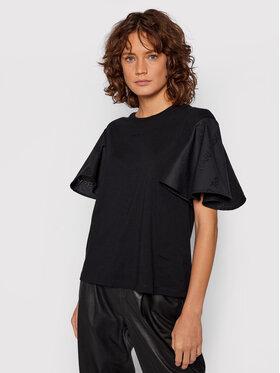 KARL LAGERFELD KARL LAGERFELD Bluză Logo Poplin 15W1703 Negru Regular Fit
