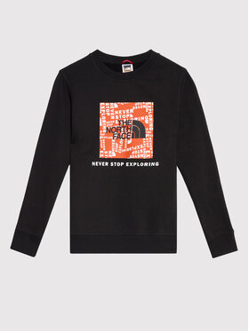 The North Face The North Face Μπλούζα Box Crew NF0A37FY1E31 Μαύρο Regular Fit