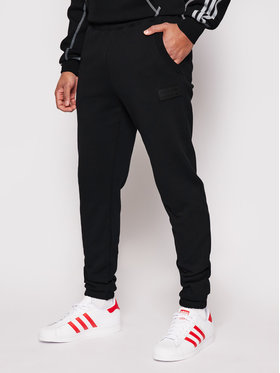 adidas adidas Pantaloni da tuta R.Y.V. Silicone Double Linear Badge GN3304 Nero Regular Fit
