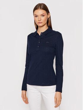 Lacoste Lacoste Тениска с яка и копчета PF5464 Тъмносин Slim Fit