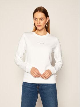 Calvin Klein Calvin Klein Bluza Ls 3D Metallic Logo K20K202236 Biały Regular Fit