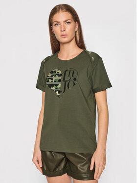 Liu Jo Sport Liu Jo Sport T-Shirt TF1009 J0088 Zielony Regular Fit