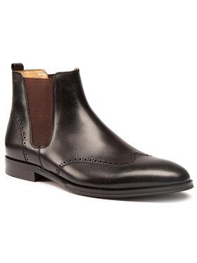Digel Digel Kotníková obuv s elastickým prvkem Soho 1001924 Černá
