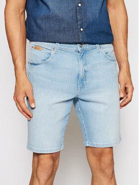 Wrangler Wrangler Szorty jeansowe Texas W11CZH280 Niebieski Slim Fit