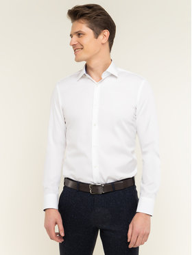 Boss Boss Риза Joram 50427552 Бял Slim Fit